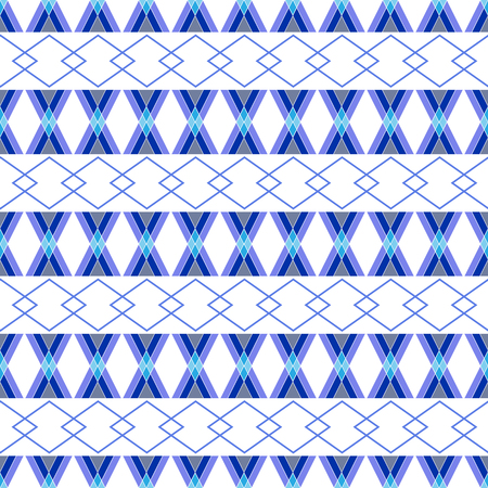 tile: Rhombus blue seamless pattern. Fashion graphic background design. Modern stylish abstract texture. Colorful template for prints, textiles, wrapping, wallpaper, website. Vector illustration Illustration