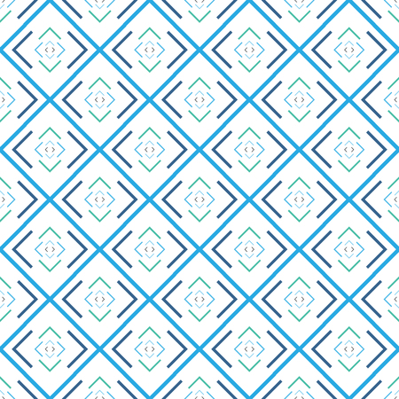 Square abstract blue seamless pattern. Fashion graphic design. Modern stylish texture. Colorful template for prints, textiles, wrapping, wallpaper, card, banner, business. Vector illustration