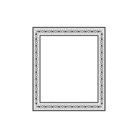 小枝カードのフレーム長方形。ファッショングラフィックの背景デザイン。  イラスト・ベクター素材
