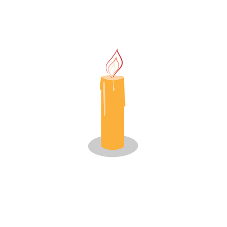 Candle light sign graphic design flat element Vector illustration isolated on white background. Illustration