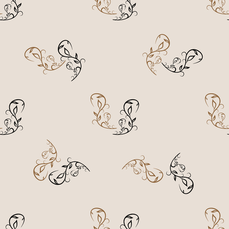 Twig seamless pattern. Fashion graphic background design. Modern stylish abstract texture.