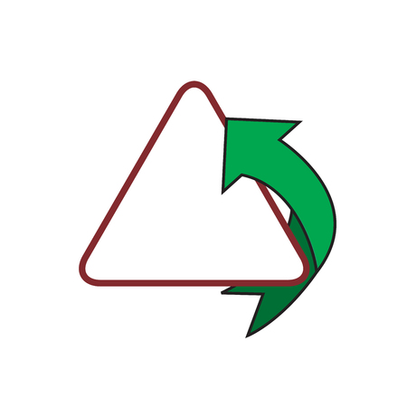 Modern fast simple stylized. Arrow and triangle Illustration