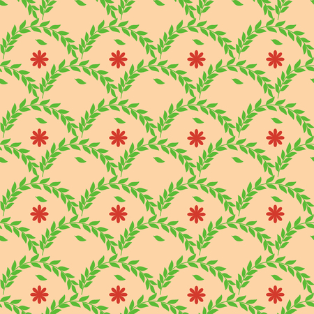Twig and flower seamless pattern. Fashion graphic background design. Modern stylish abstract texture. Colorful template for prints, textiles, wrapping, wallpaper, website, etc. Vector illustration