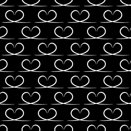 Heart seamless pattern. Fashion graphic design. Modern stylish texture. Monochrome template for prints, textiles, wrapping, wallpaper, card, banner, business, etc. Vector illustration Иллюстрация