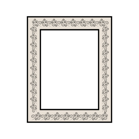 Frame of photo. Fashion graphic background. Modern stylish abstract texture. Colorful template for prints, textiles, wrapping, wallpaper, photo, etc. Design element. Vector illustration