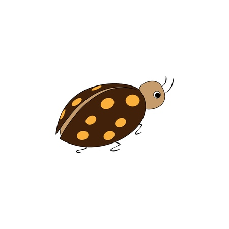 Ladybird. Illustration ladybug on white background. Cute colorful sign insect symbol spring, summer, garden. Template for t shirt, apparel, card. Design element. Vector illustration Illusztráció