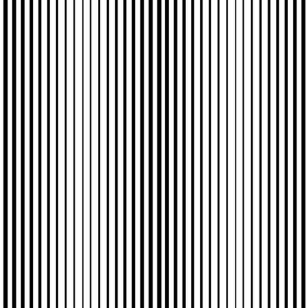 Striped vertical seamless pattern. Fashion graphic background design. Modern stylish abstract texture. Monochrome template for prints, textiles, wrapping, wallpaper, website, etc. Vector illustration.