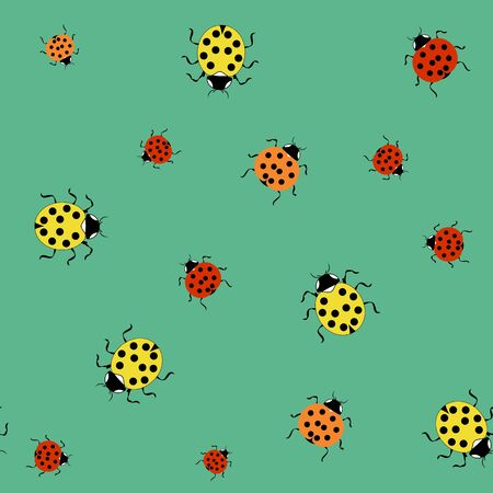 Ladybird color seamless pattern. Fashion graphic background design. Modern stylish abstract texture. Colorful template for prints, textiles, wrapping, wallpaper, website, etc. Vector illustration Ilustrace
