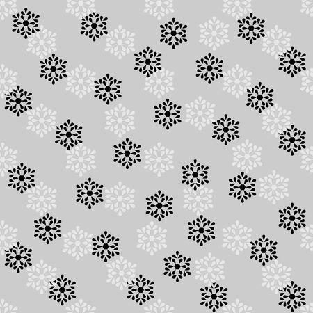 Snowflake seamless pattern. Fashion graphic background design. Modern stylish abstract texture. Monochrome template for prints, textiles, , wallpaper, website. Vector illustration