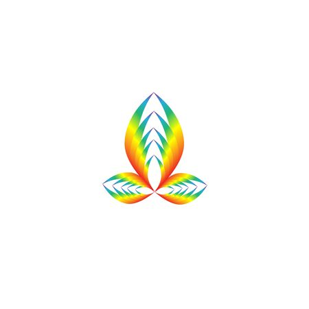 Rainbow for modern icon. Fast simple stylised. Creative illustration in colorful tone.