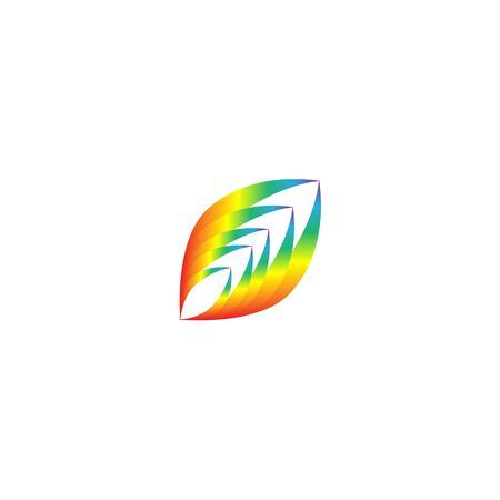 Rainbow for modern logo. Fast simple stylised. Creative illustration in colorful tone. Abstract logo icon design template element for business. Brend-new design for your biz. Vector illustration