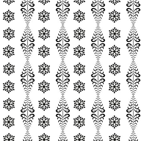 Snowflake and christmas tree seamless pattern. Fashion graphic background design. Modern stylish abstract texture. Monochrome template for prints, textiles, wrapping, wallpaper. Vector illustration