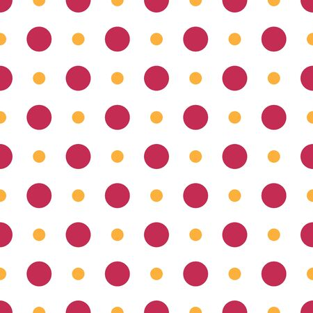 Polka dot seamless pattern. Fashion graphic background design. Modern stylish abstract texture. Colorful template for prints, textiles, wrapping, wallpaper, decor, website, etc. Vector illustration