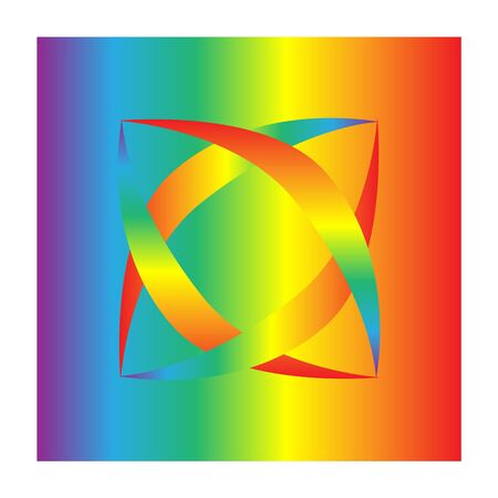 Rainbow for modern design. Fast simple stylised. Creative illustration in colorful tone.