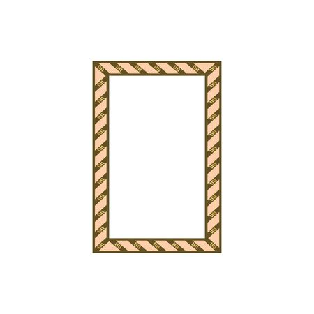 Frame with wavy line. Fashion graphic background. Modern stylish abstract texture. Colorful template for prints, textiles, wrapping, wallpaper, photo, etc. Design element. Vector illustration