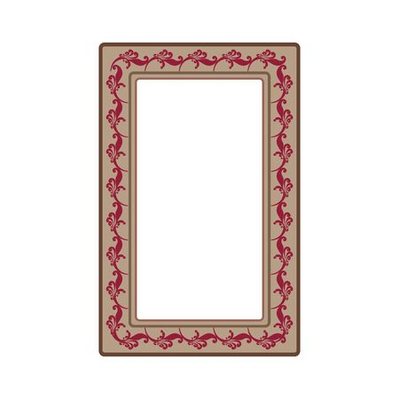 Frame with red twig. Fashion graphic background. Modern stylish abstract texture. Colorful template for prints, textiles, wrapping, wallpaper, photo, etc. Design element. Vector illustration