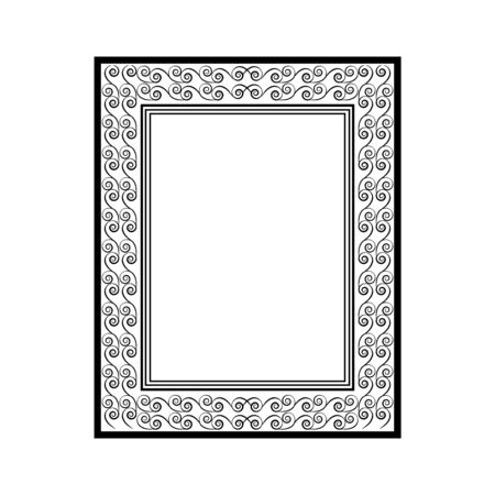 Frame with wavy line. Fashion graphic background. Modern stylish abstract texture. Monochrome template for prints, textiles, wrapping, wallpaper, photo, etc. Design element. Vector illustration Banque d'images - 138372271