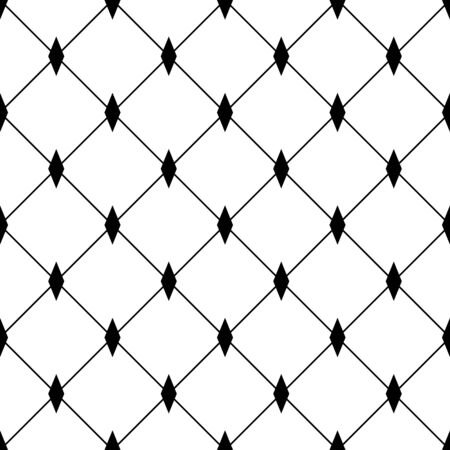 Geometric ornamental seamless pattern. Abstract square background design. Modern stylish abstract texture. Monochrome template for prints, textiles, wrapping, wallpaper, website. Vector illustration Vektorové ilustrace