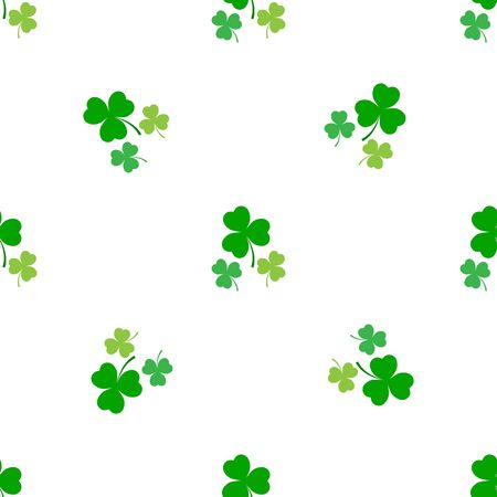 Clover leaf seamless pattern. Symbol fortune, success, traditional ireland festival, holiday St. Patrick. Modern texture. Color template for prints, wrapping, wallpaper etc. Vector illustration. Archivio Fotografico - 141465928