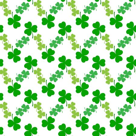 Clover leaf seamless pattern. Symbol fortune, success, traditional ireland festival, holiday St. Patrick. Modern texture. Color template for prints, wrapping, wallpaper etc. Vector illustration. Archivio Fotografico - 141466055