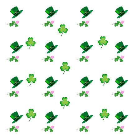 St. Patrick Day background. Symbol fortune, success, traditional ireland festival. Modern texture. Color template for prints, wrapping, holiday, wallpaper, etc. Vector illustration Archivio Fotografico - 141466064