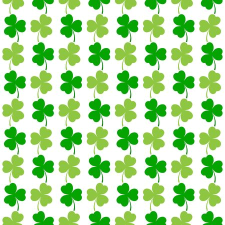 Clover leaf seamless pattern. Symbol fortune, success, traditional ireland festival, holiday St. Patrick. Modern texture. Color template for prints, wrapping, wallpaper etc. Vector illustration. Archivio Fotografico - 141466109