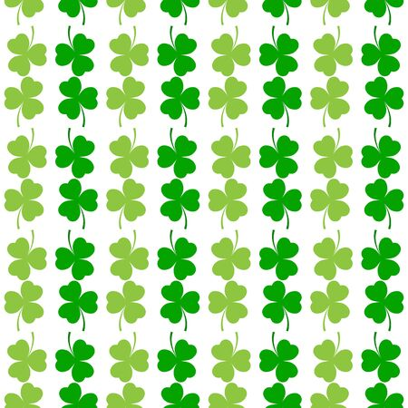 Clover leaf seamless pattern. Symbol fortune, success, traditional ireland festival, holiday St. Patrick. Modern texture. Color template for prints, wrapping, wallpaper etc. Vector illustration. Archivio Fotografico - 141466129