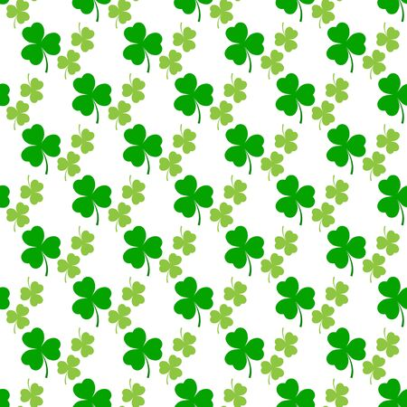 Clover leaf seamless pattern. Symbol fortune, success, traditional ireland festival, holiday St. Patrick. Modern texture. Color template for prints, wrapping, wallpaper etc. Vector illustration.