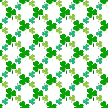 Clover leaf seamless pattern. Symbol fortune, success, traditional ireland festival, holiday St. Patrick. Modern texture. Color template for prints, wrapping, wallpaper etc. Vector illustration. Archivio Fotografico - 141466119