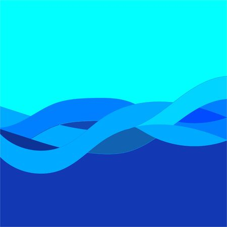 Background blue wave linear gradation. Abstract elegant colorful base. Smooth backdrop texture on luxury field. Colored vector illustration Archivio Fotografico - 141466142