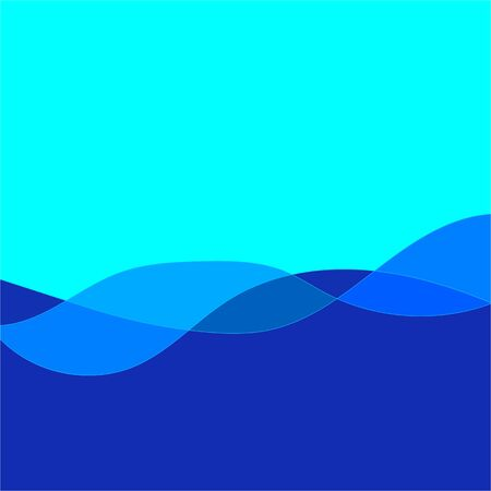 Background blue wave linear gradation. Abstract elegant colorful base. Smooth backdrop texture on luxury field. Colored vector illustration Archivio Fotografico - 141466143