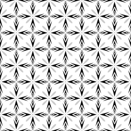 Geometric ornamental with square of arrows seamless pattern. Abstract background design. Modern stylish texture. Monochrome template for prints, textiles, wrapping, wallpaper. Vector illustration Archivio Fotografico - 141466708