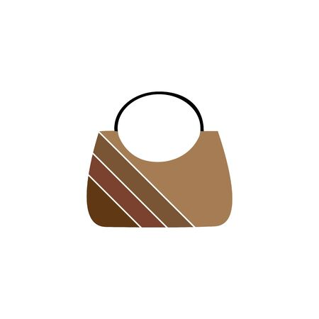 Stylish handbag as a necessary women's accessory. Trendy products for womenfolk, glamour different types isolated on white background. Colorful design element. Vector illustration Archivio Fotografico - 141466710