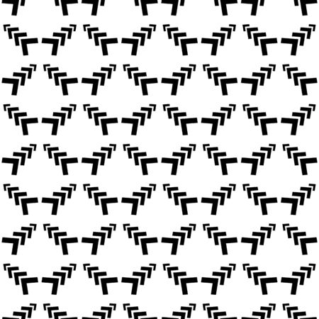 Geometric ornamental with arrows seamless pattern. Abstract background design. Modern stylish texture. Monochrome template for prints, textiles, wrapping, wallpaper, etc. Vector illustration