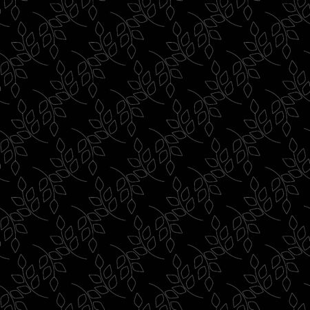 Abstract leaf seamless pattern. Fashion graphic background design. Modern stylish abstract texture. Design monochrome template for prints, textiles, wrapping, wallpaper, website. Vector illustration Ilustração