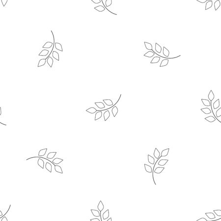 Leaf seamless pattern. Fashion graphic background design. Modern stylish abstract texture. Monochrome template for prints, textiles, wrapping, wallpaper, website. Design element. Vector illustration Stok Fotoğraf - 143708219