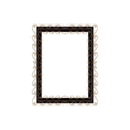 Frame with wavy line for pfoto. Vector.