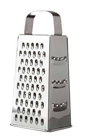 grater: metal grater on a white background Stock Photo