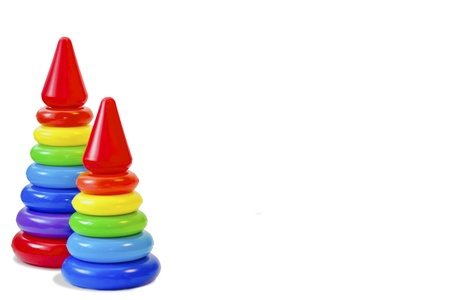 A toy for the child s development, pyramid Stock Photo