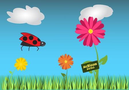 haulm: eat meadow Illustration