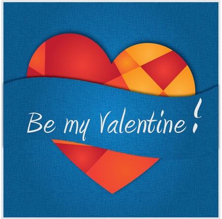 Valentine card (blue)