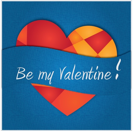 Valentine card (blue) Vector