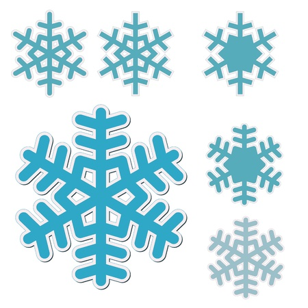 symetry: snowflakes Illustration