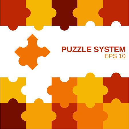 business puzzle: colored puzzle pattern