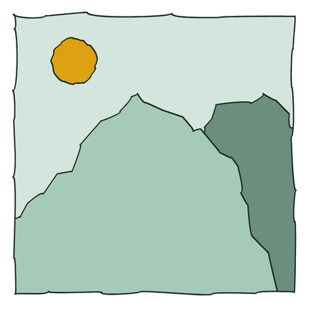 icon of the mountains. Vector illustration. Vector