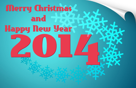 merrry christmas and happy new year 2014 card Vector