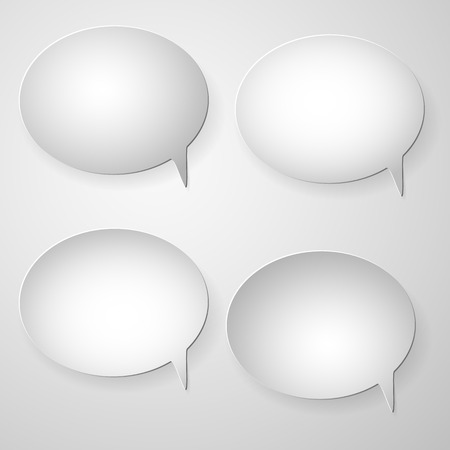 collection of white blank  speech bubbles Vector