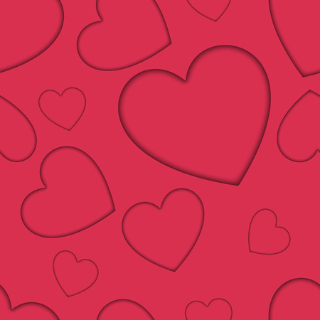 shadowed: seamless valentines day background with shadowed hearts