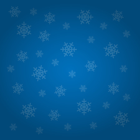 winter season: Blue colored winter background with snowflakes. Vector illustration. Illustration
