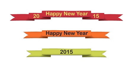 Colored curled strips for celebrating of the happy new year 2015. Vector illustration. Vector